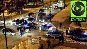 Pościg ulicami Warszawy.[br] Ranni policjanci