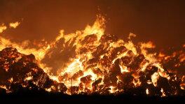 Pożar słomy