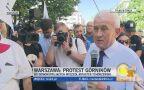 Minister Tchórzewski wyszedł do protestujących górników