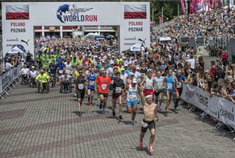 Jedna z wcześniejszych edycji biegu (fot. Wings for Life World Run)