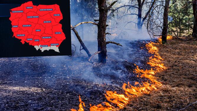 Najwyższy poziom zagrożenia pożarowego w Polsce