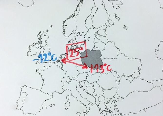 Duża różnica temperatury w Europie