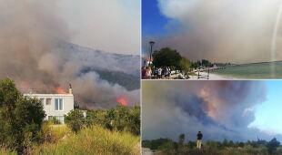 Pożary w Chorwacji na półwyspie Peljesac