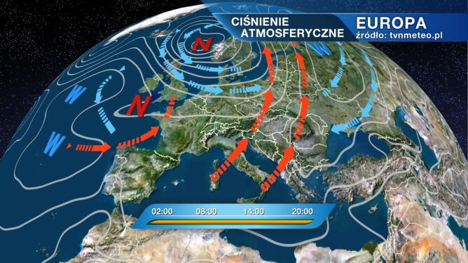 Do Polski wejdzie zatoka niżowa z deszczowym frontem atmosferycznym
