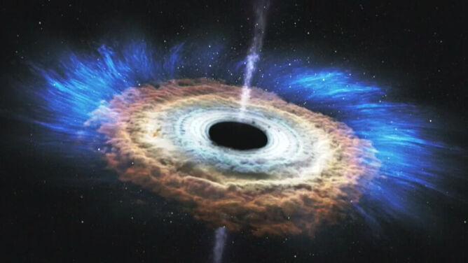 Zobacz, jak czarna dziura rozrywa gwiazdę