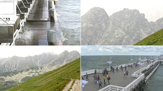 Oblodzone i ośnieżone szlaki w Tatrach. <br />Nad Bałtykiem silny wiatr