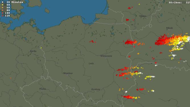 Front burzowy przechodził nad Polską