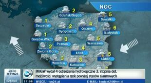 Burze już tylko na wschodzie (TVN24)